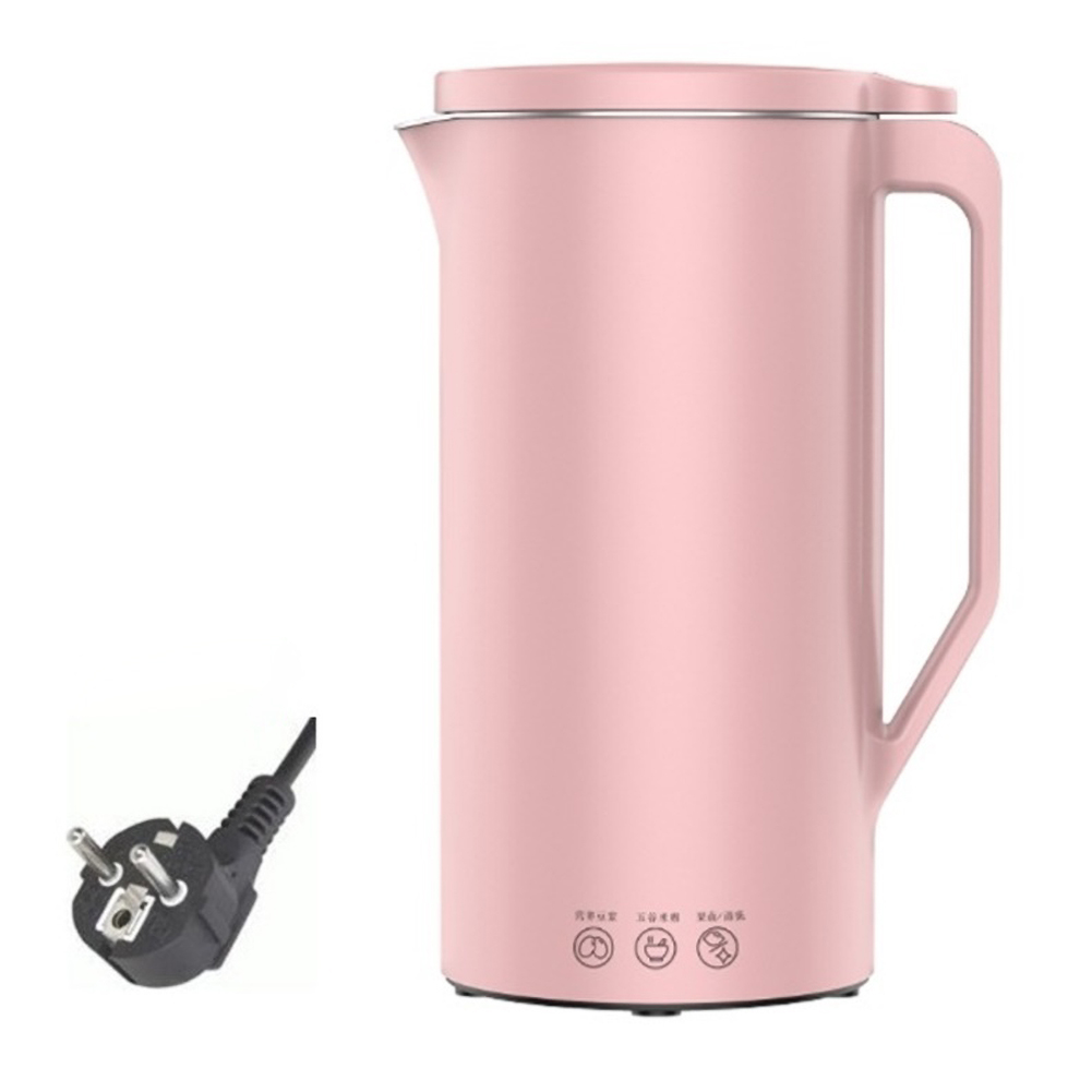 110v/220v Soymilk  Machine Mini Soy  Milk Maker Soya-bean  Milk Electric  Juicer Blender Rice Paste Maker 220v European plug pink