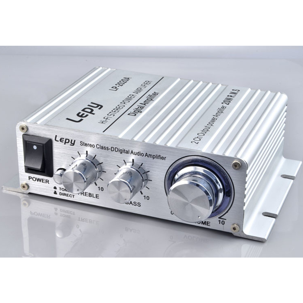 2024A Digital Audio Amplifier Power AMP Hi-Fi Home Stereo Class-T Car DIY Player 2CH RMS 20W BASS For MP3 MP4 iPod Digital Amplifier white_2024A+3A European standard power supply
