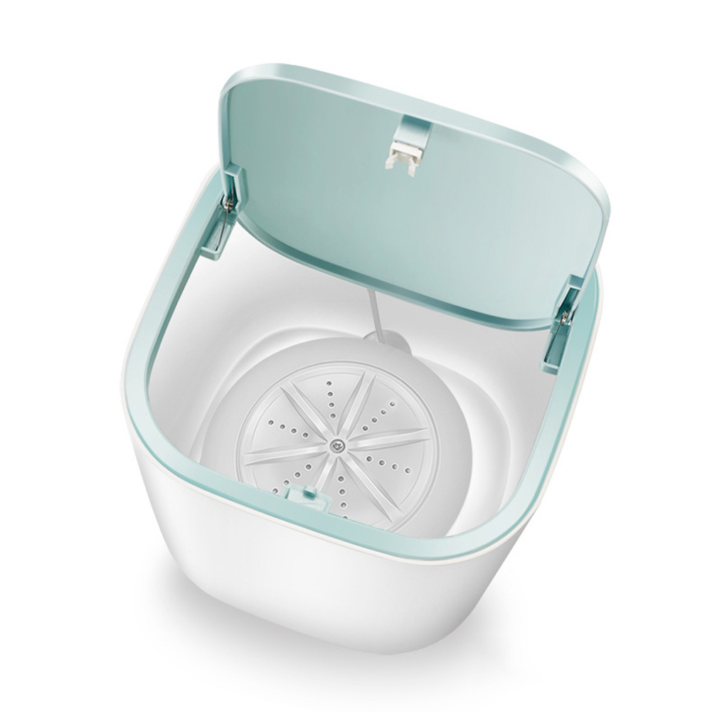 Portable Ultrasonic Electric Washing Machine USB Charging Mini Tabbletop Clothes Washing white