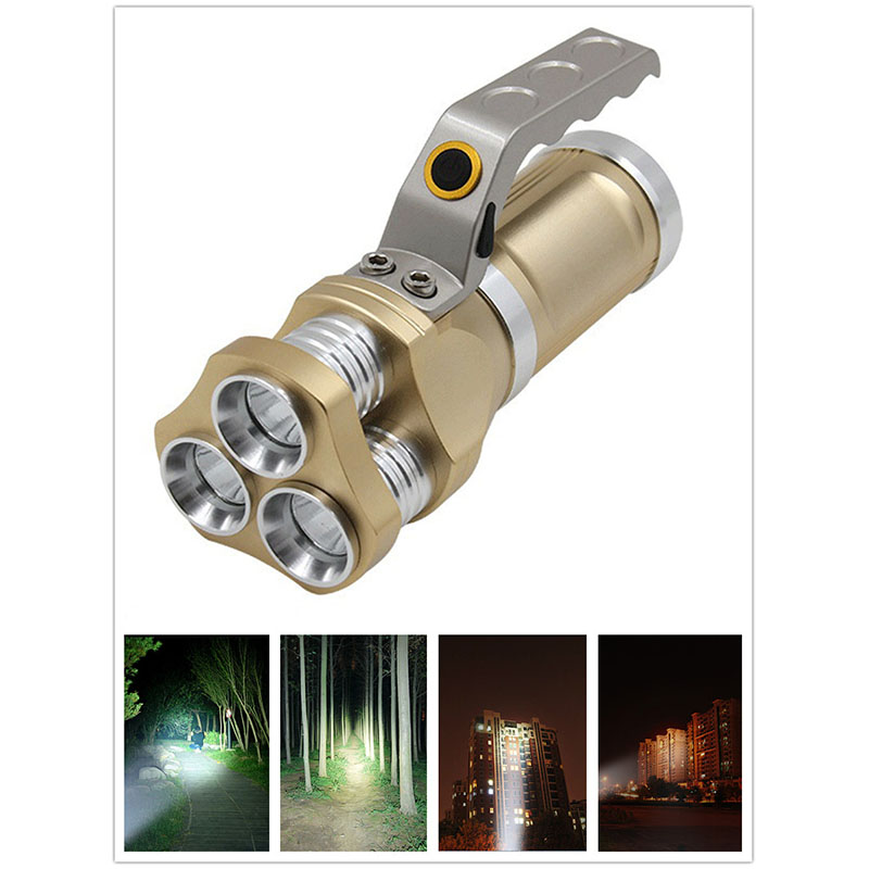 LED Strong Light Torch Multifunctional Long Shot Flashlight  Flashlight + US plug