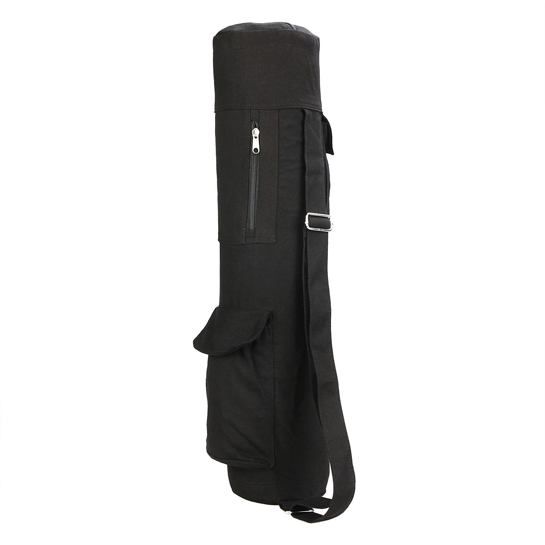 Yoga Mat Bag Exercise Gym Carry Bag Adjustable Shoulder Strap Yoga Mat Storage Bag black