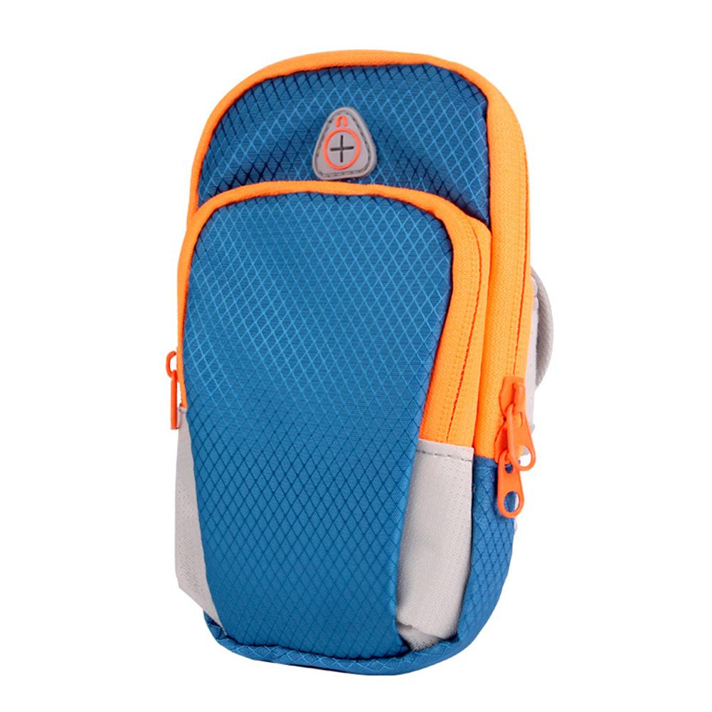 Universal Waterproof Mobile Phone Arm Bag Sport Running Wallet Pouch blue_Arm Bag