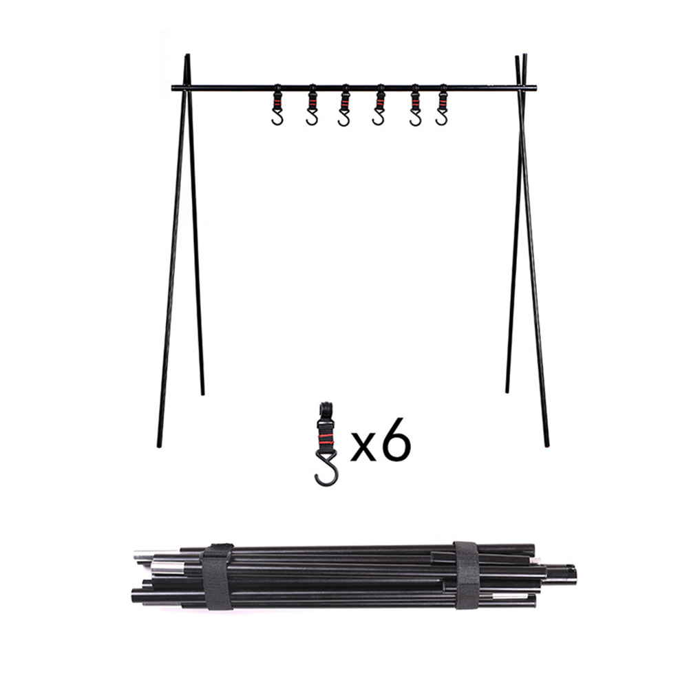 Foldable  Tripod Hanger For Camping Kitchenware Storage Hook Portable Barbecue Tool Bracket large