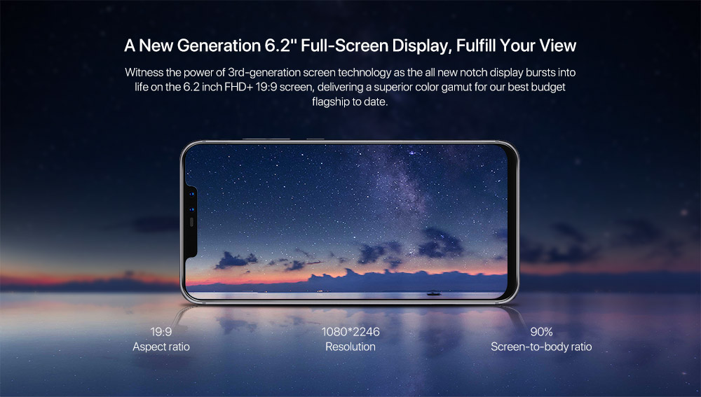 THL Knight 2 Smartphone - Android 7.0, 6 Inch Screen, Octa Core CPU, 4GB RAM, 4200mAh Battery, 4G, D Knight 2