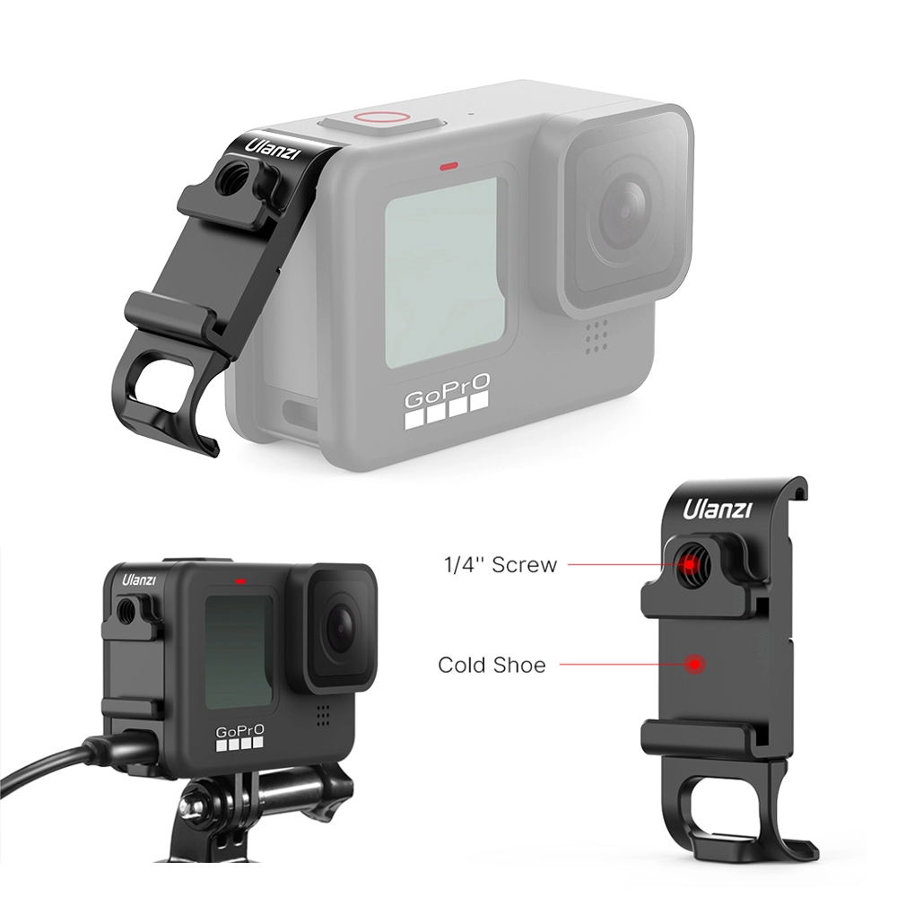 G9-6 Battery Side Door Multi-function Expansion Sports Camera Cold Shoe Side Cover for GoPro9 black