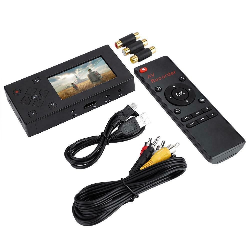 Audio Video Capture to Digital AV Recorder with Remote Controller European Regulation black