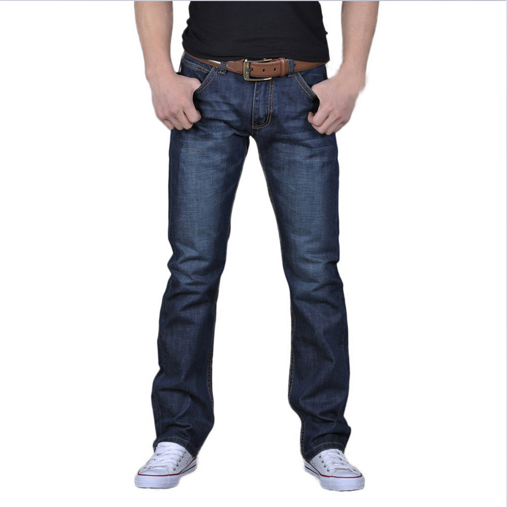 Men Fashion Slim Long Straight Jeans Pants for Fall Winter Wear Photo Color_36