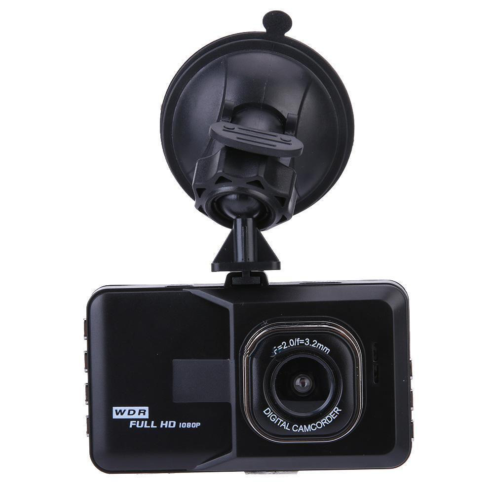 Car DVR Driving Recorder Vehicle Dashboard Camera With 3inch TFT Screen 120° Wide Angle 1080P G-Sensor Loop Recording Motion Detection Night Vision black
