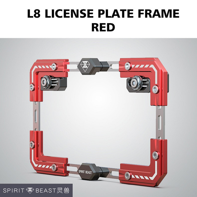 Universal Motorcycle License Plate Holder Number Bracket Frame red