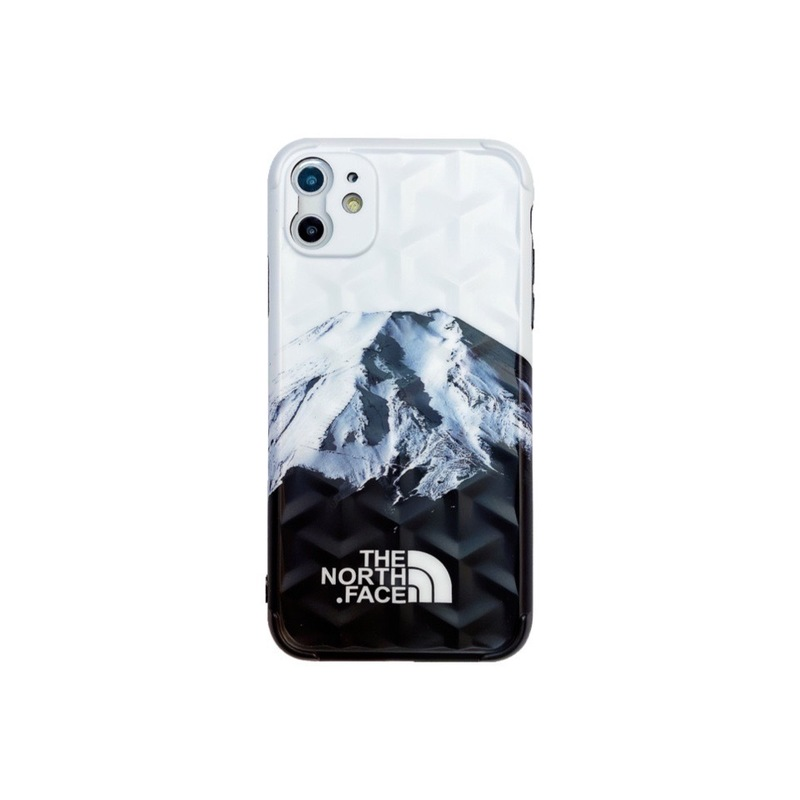 For Iphone 11 Mobile Phone Cover Tpu Y-shaped 3d Stereo Soft Protective Case White snowy mountains in the north