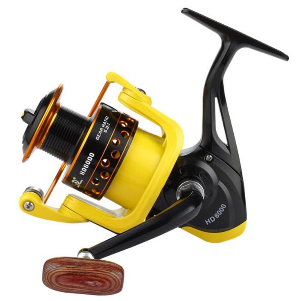 Spinning Fishing Reel Fishing Rod Accessories Baitcasting Metal Fishing Spool  HD5000 type yellow black