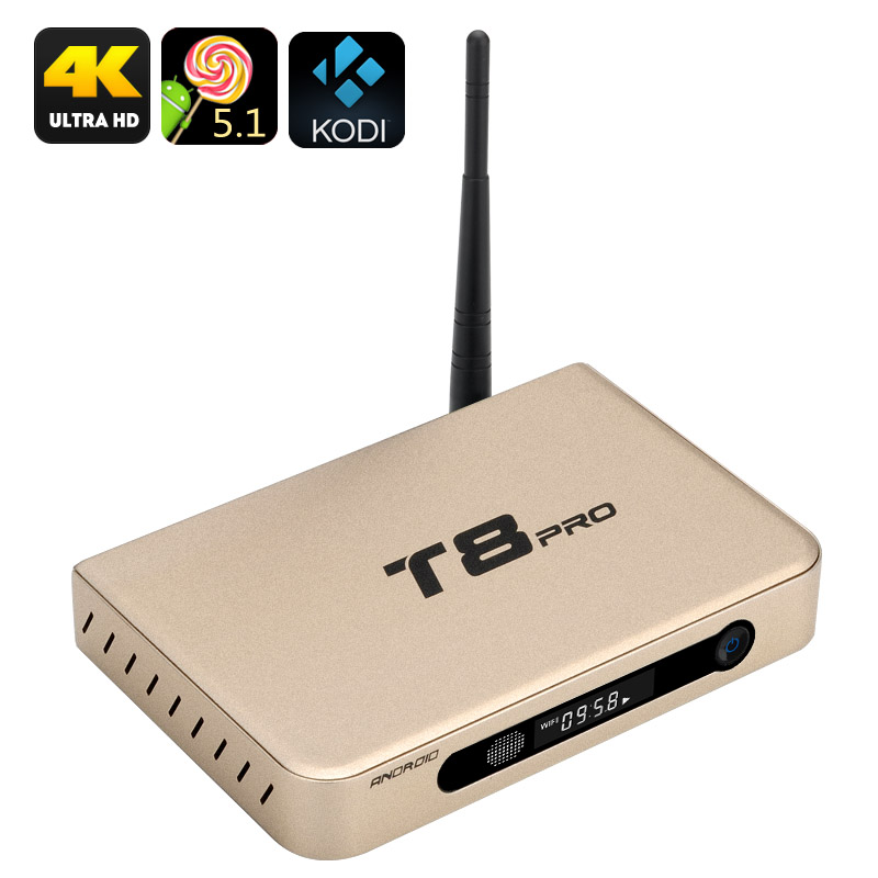 T8 Pro Android TV Box (Gold)