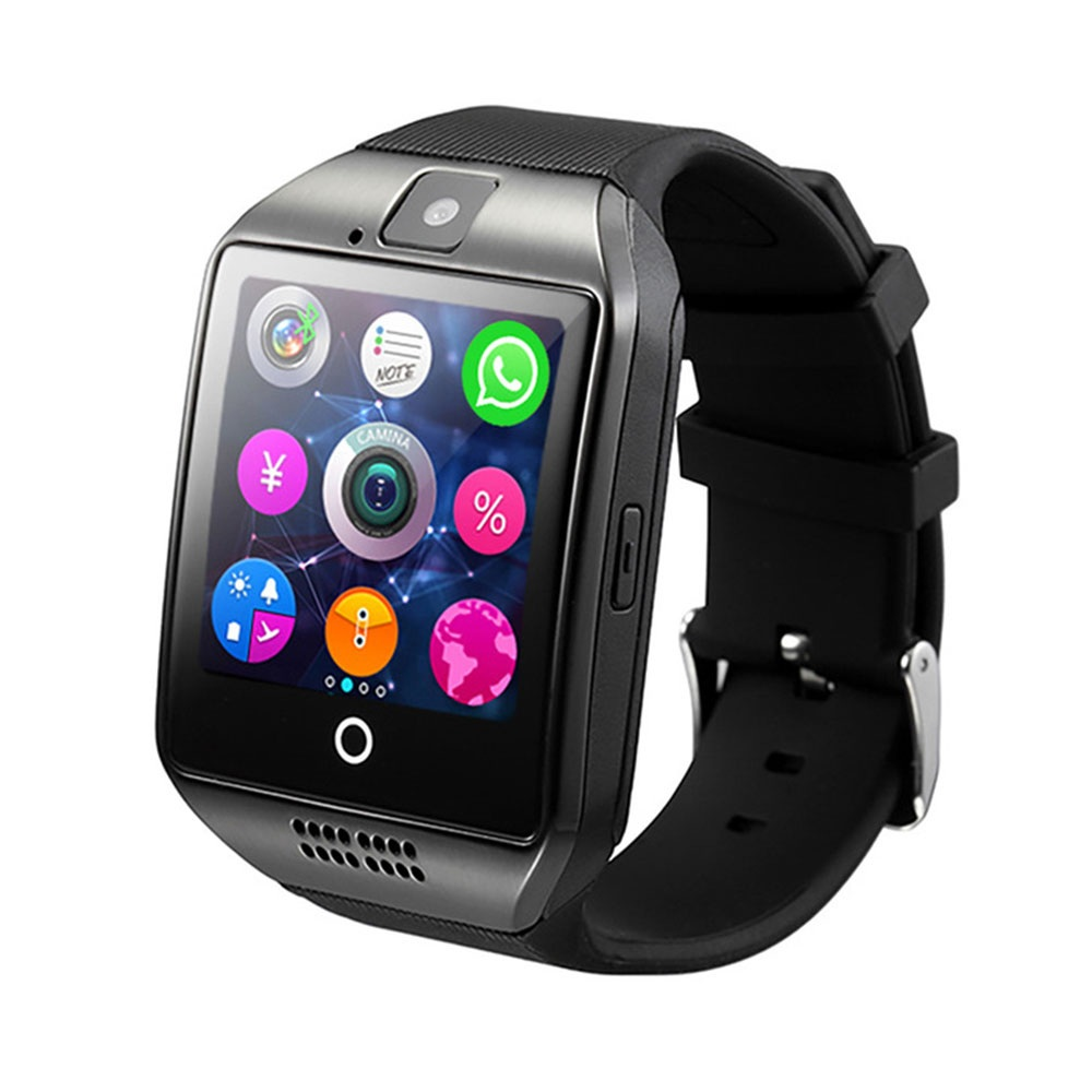 Bluetooth Touch Screen Sports Fitness Tracker Smartwatch black