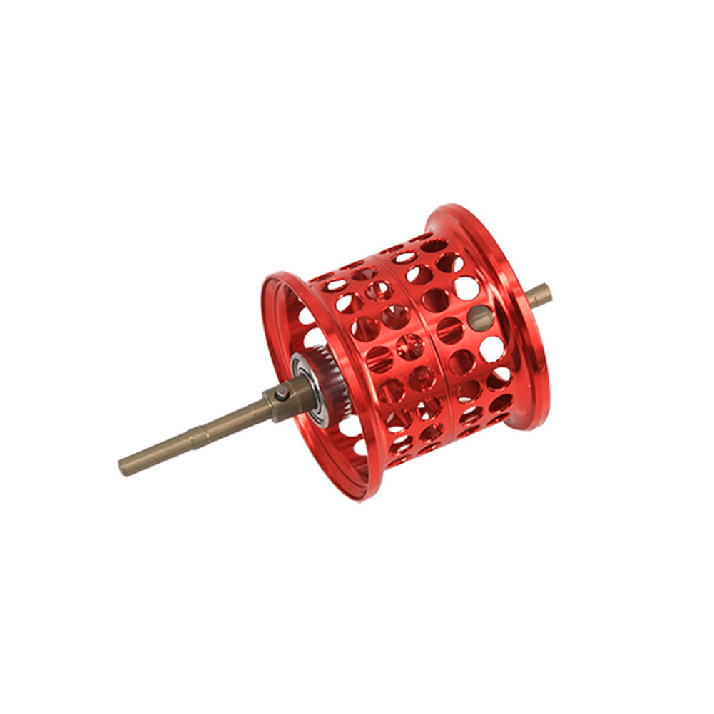 Water Droplets Round Long Road Reel Fishing Line Metal Wire Cup Fish Wheel Small Wheel Red (9 g NMB)