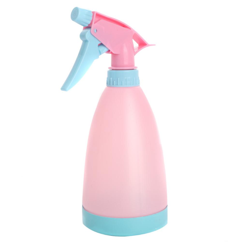 500ml Multifunctional Hand-held Manual Watering Bottle Water  Sprayer For Irriagtion Pink