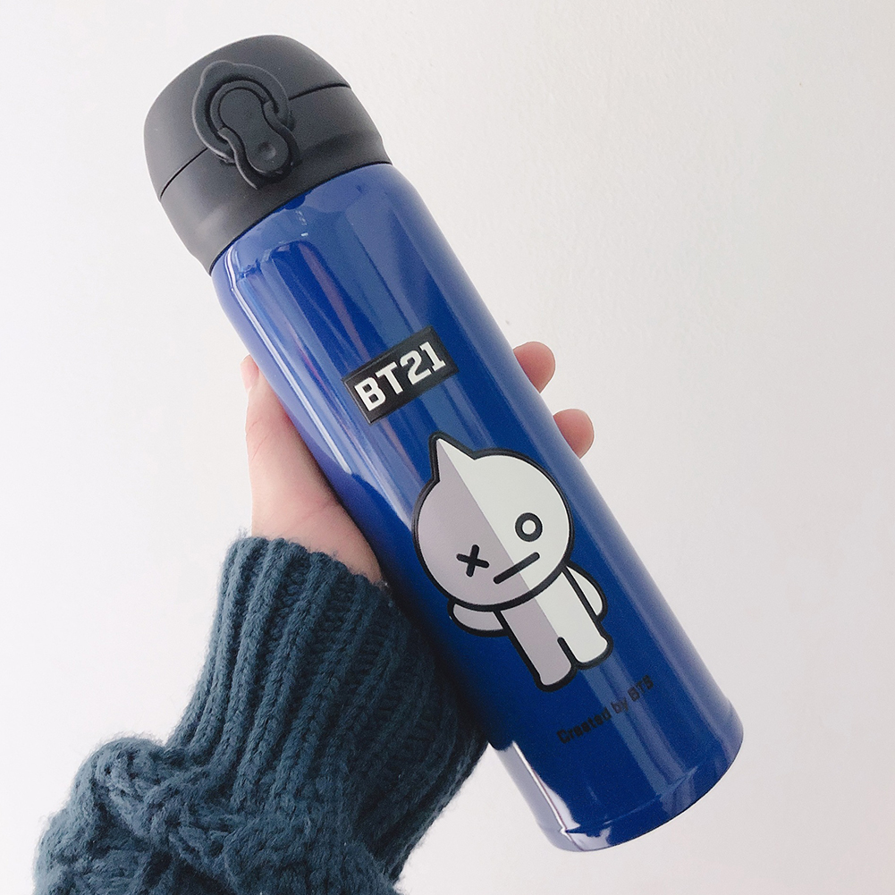 Cute Bts Series Cartoon Printing Stainless Steel Vacuum Thermal Cup for Fans Student robot