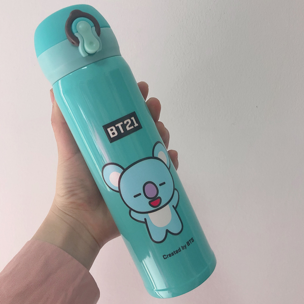 Cute Bts Series Cartoon Printing Stainless Steel Vacuum Thermal Cup for Fans Student Koala (Style 2)