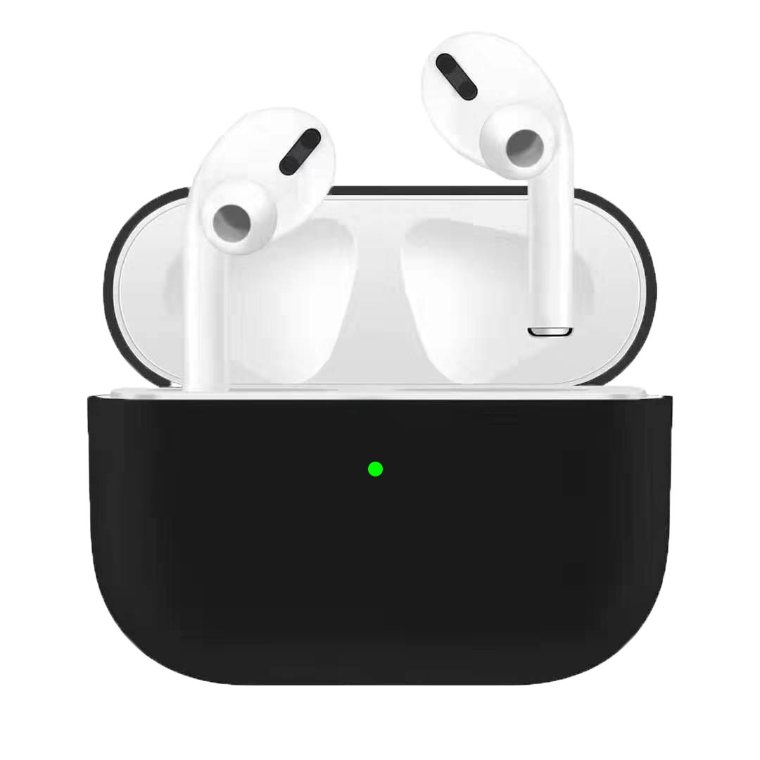 Silicone Earphone Case For Airpods Pro Shockproof Cases For Apple Bluetooth Headset Protective Cover black