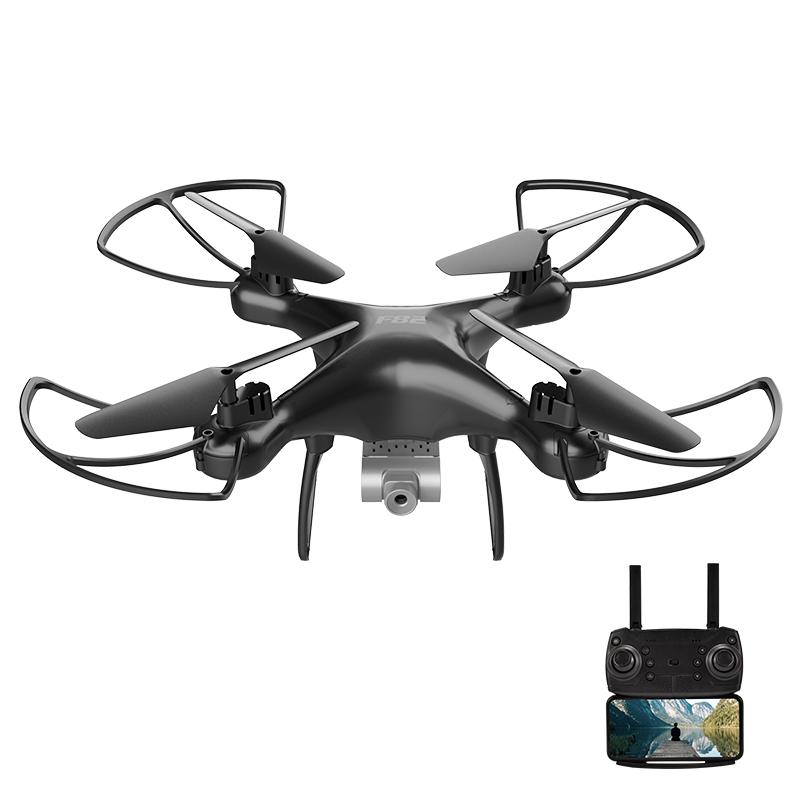 F82 Drone Long Endurance 20 Minutes 4k Dual-camera Real-time Image Transmission Aircraft Fixed Altitude Rc Aircraft Black dual camera 720P 2B