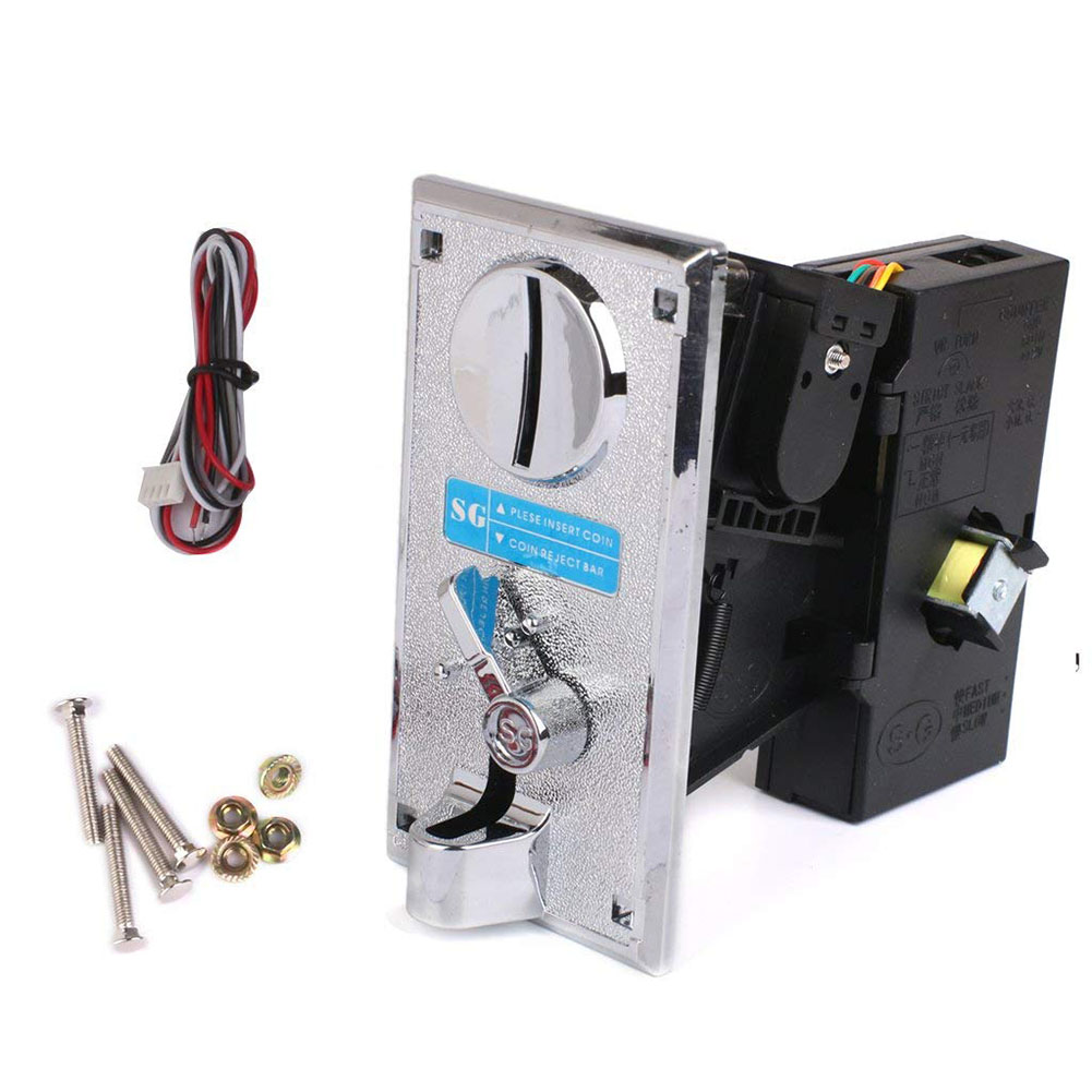 [Indonesia Direct] Multi Coin Acceptor Electronic Roll Down Coin Acceptor Selector Vending Machine Game Coin Acceptor