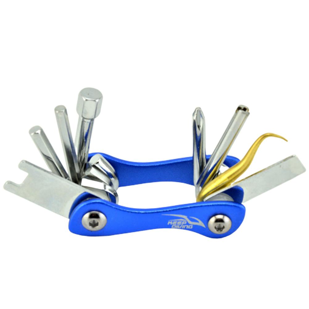 8 in 1 Diving O-Ring Pick Wrench Screwdriver Multi Tools for Repairing Adjusting Scuba Dive BCD Equipment