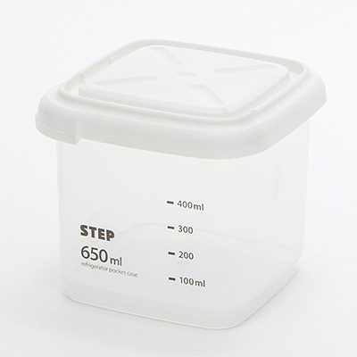 Storage Case Kitchen Transparent Airtight Container Preservation Box 650ml