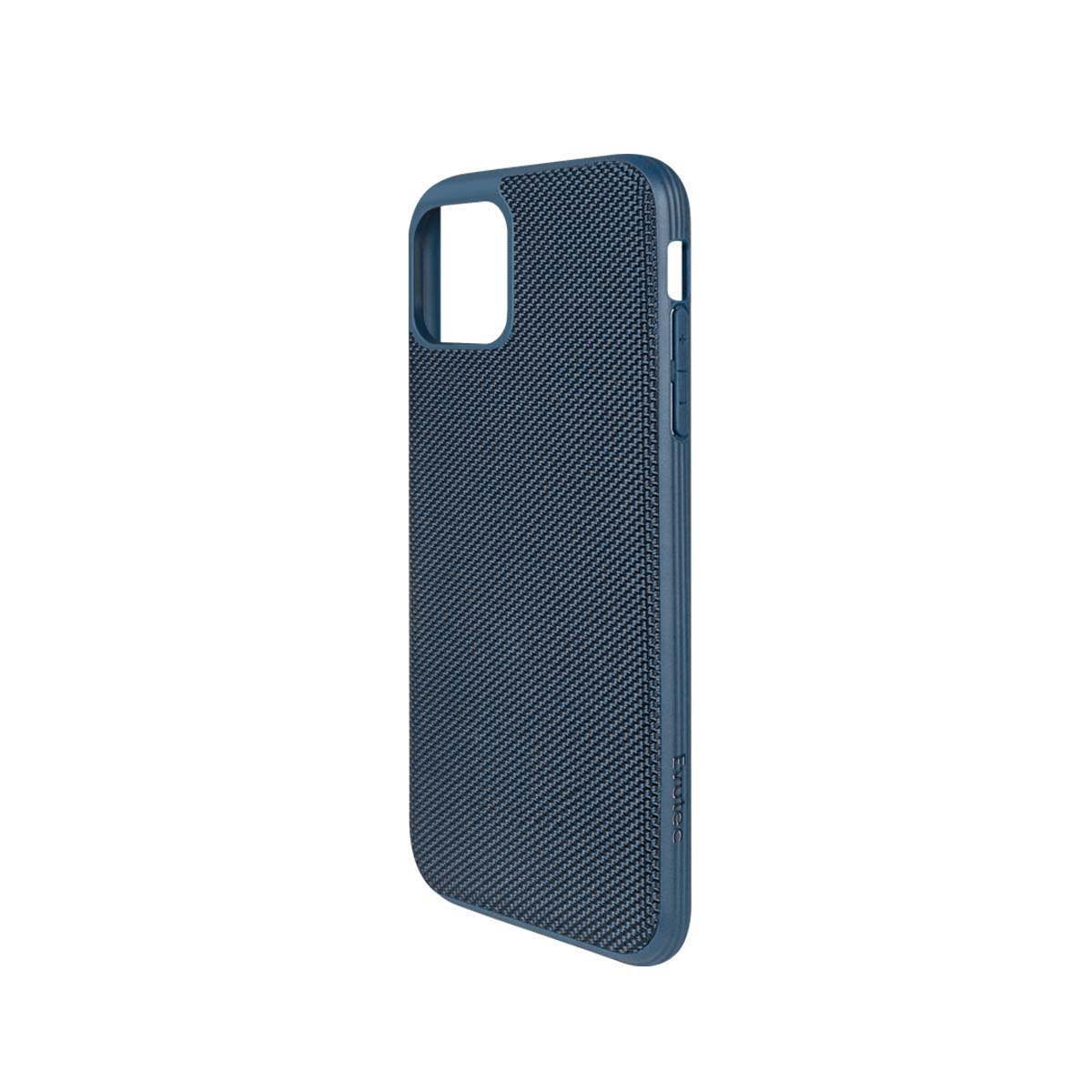 [US Direct] Evutec Case for iPhone 11 Pro Max Heavy Duty Case Ballistic Nylon Premium Protective Military Grade Drop Tested Shockproof (with car vent mount) Blue