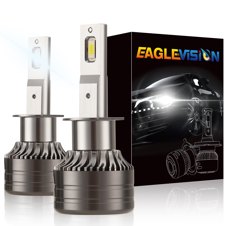 1 pair Car Headlamp LED Headlight Bulb 60W 6,000LM ZES-3575 LED chip Automobile LED headlight  H1