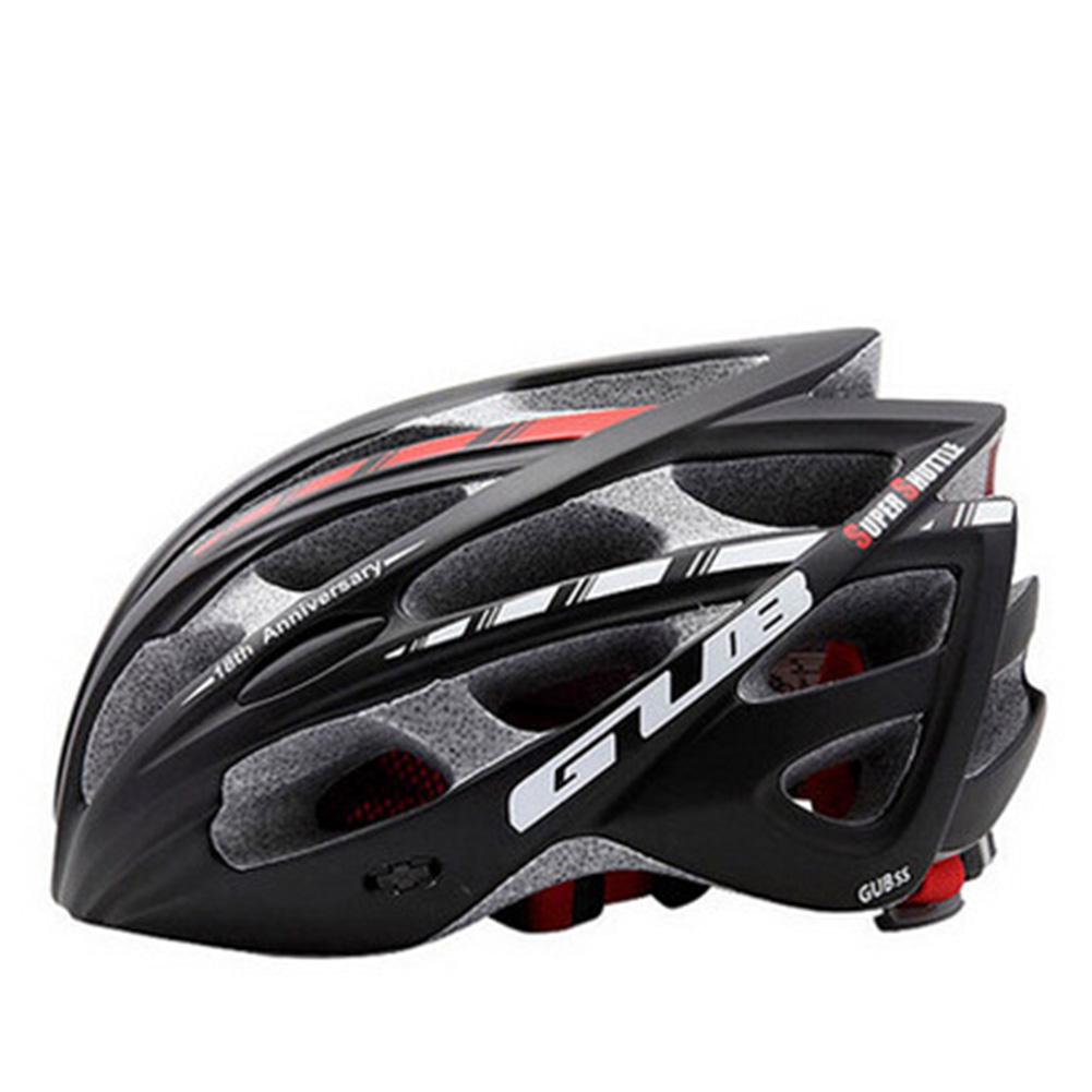 Men Women GUB SS Integrally-molded Helmet Bicycle HelmetMountain Bike Helmet for Road Cycling black_M