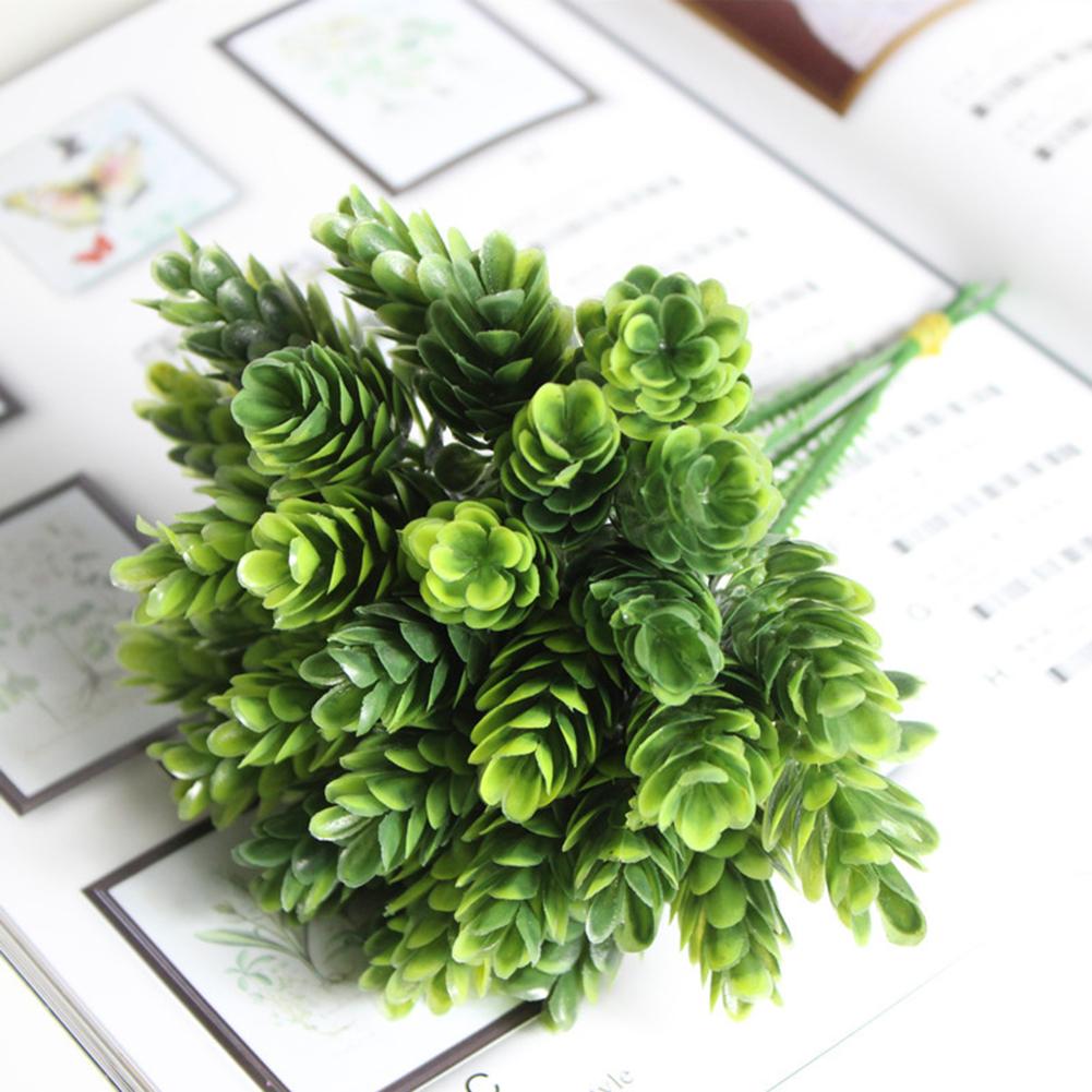 Simulate Pineapple Grass Bouquet Artificial Flower Decoration Flower Arrangement Material (6 Branches per Bouquet) dark green