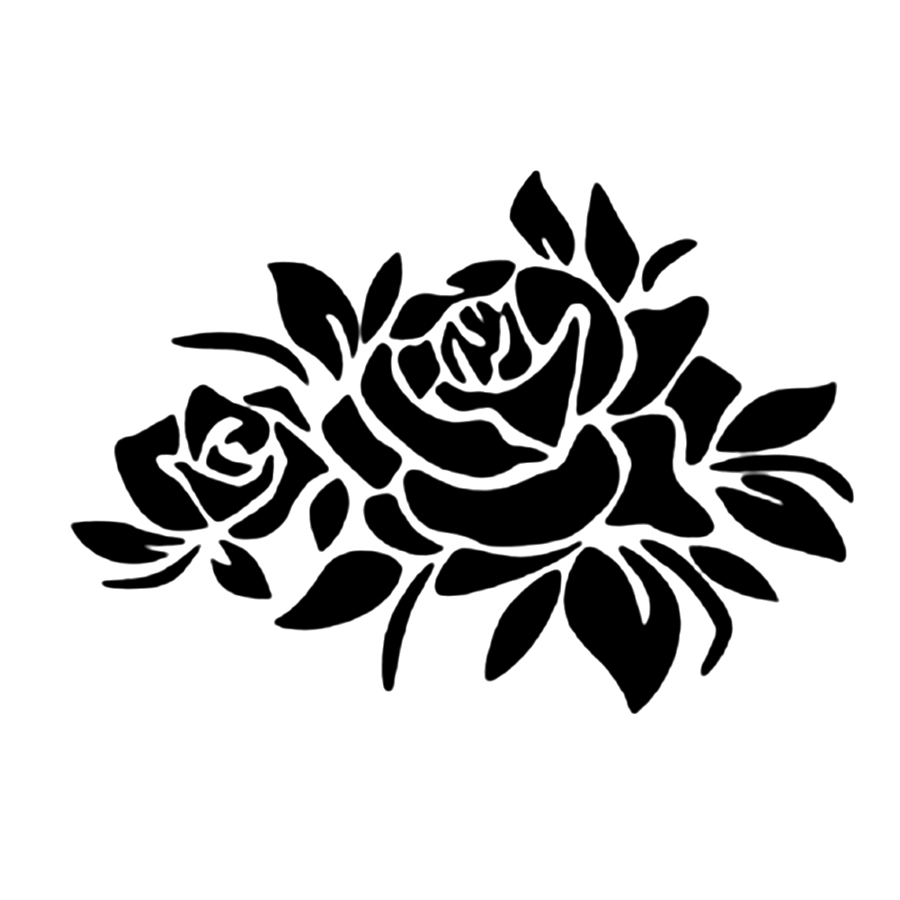 Reflective Flower Scratching Decals Car Stickers Full Body Car Styling Sticker for Cars Decoration black