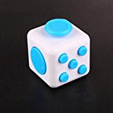 [US Direct] Fidget Cube Toy Relieve Stress, Anxiety and Boredom for Children and Adults White&Blue