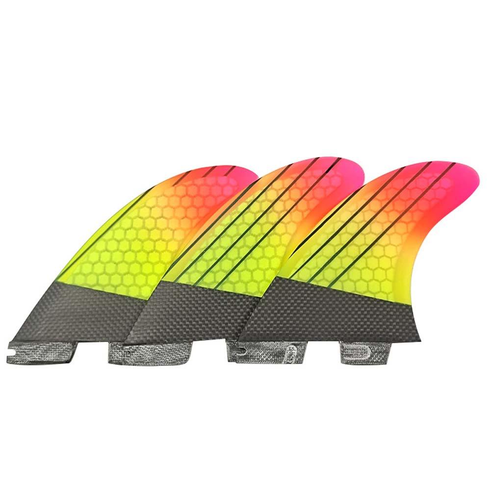 FCS2 Surfboard Tail Fin Gradient Ramp Surfboard Fins Orange red gradient_G5