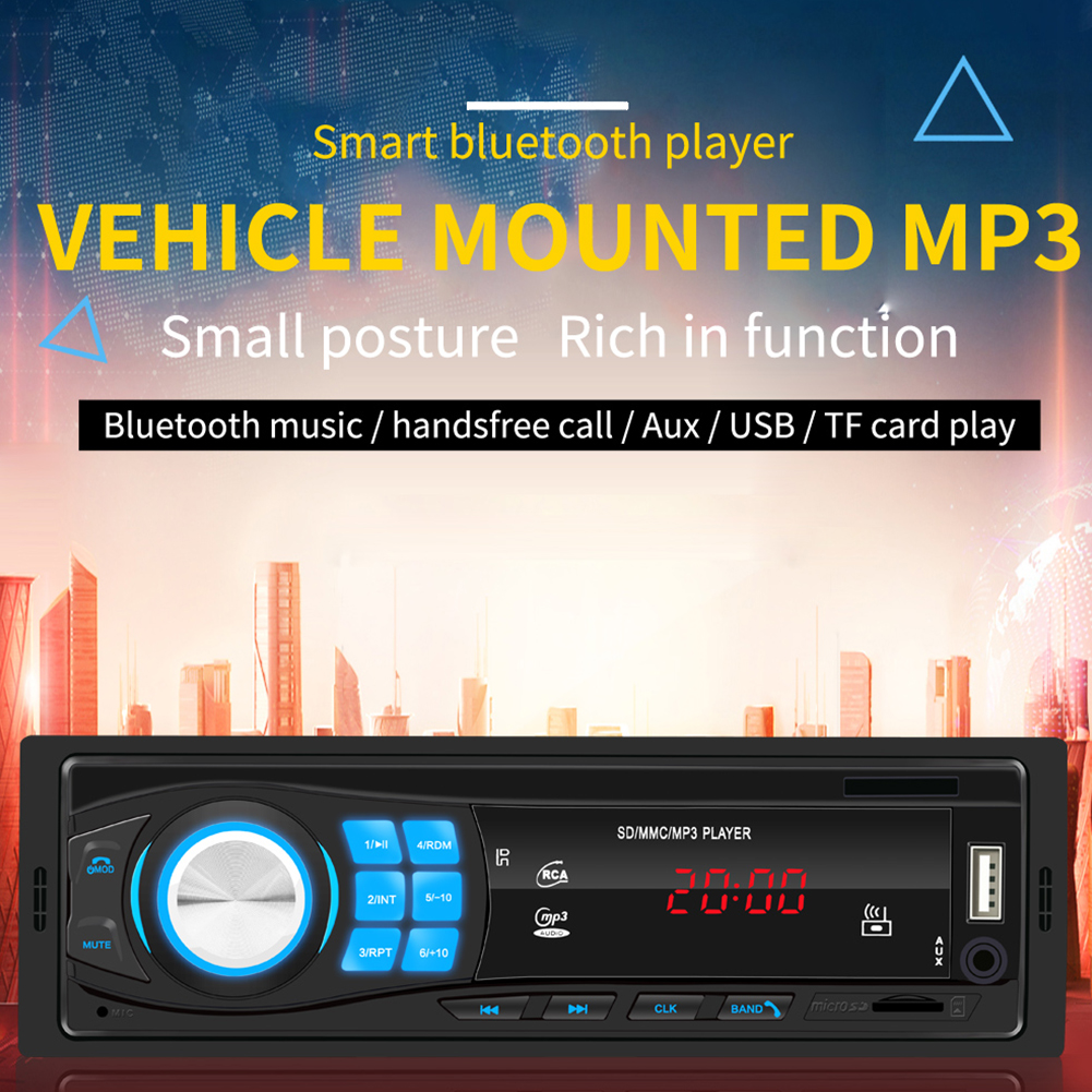 SWM-8013 1DIN12V Bluetooth Stereo Auto Radio Car Radio In-dash FM Aux Input Receiver SD USB MP3 MMC WMA Car Audio Player 8013 black