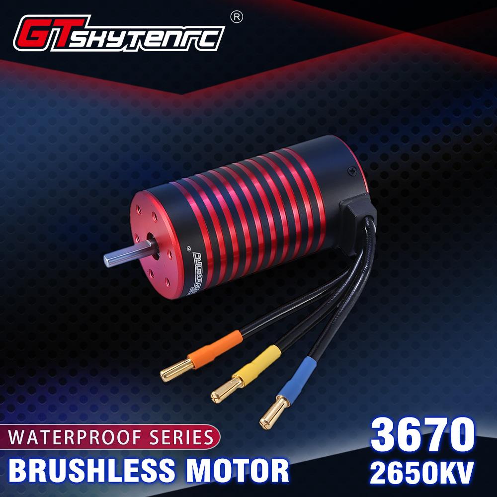 GTSKYTENRC 3670 2050KV/2650KV Brushless Motor for GTR/Lexus 2S 1:10 3S 4S 1:8 RC Drift Racing Off-road Car Truck Sensorless 2650KV