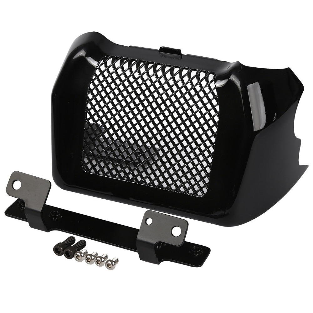 Motorcycle Engine Cover Oil Cooler Cover for  Street Glide FLHX,Special FLHXS 2017-2019 black