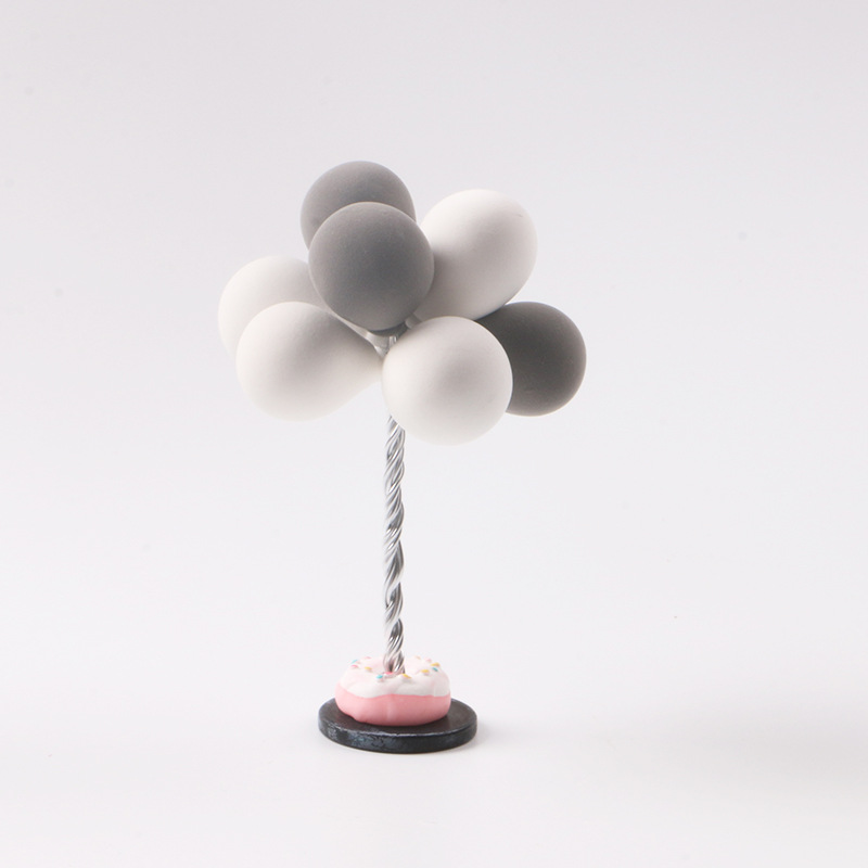 Small Balloon Design Clay Car Decoration
