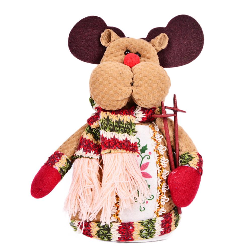 Exquisite Vivid Cloth Doll Elk Santa Claus Snowman House Ornaments Christmas Party Decorations Furnishing Articles