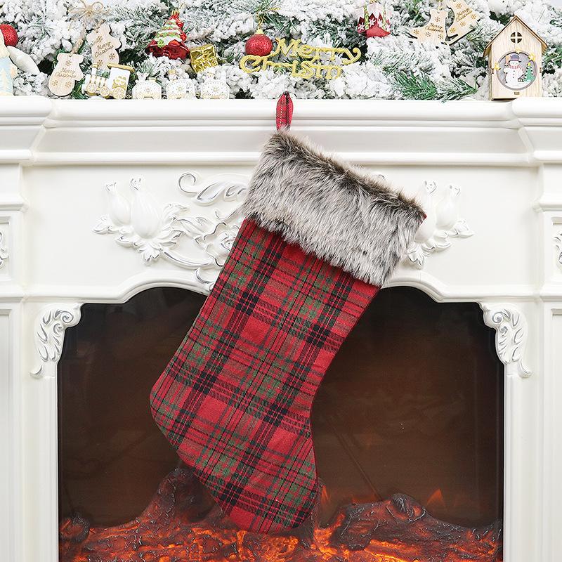 Christmas Stocking Bag Hanging Pendant for Xmas Tree Hanging Decor Christmas plush socks