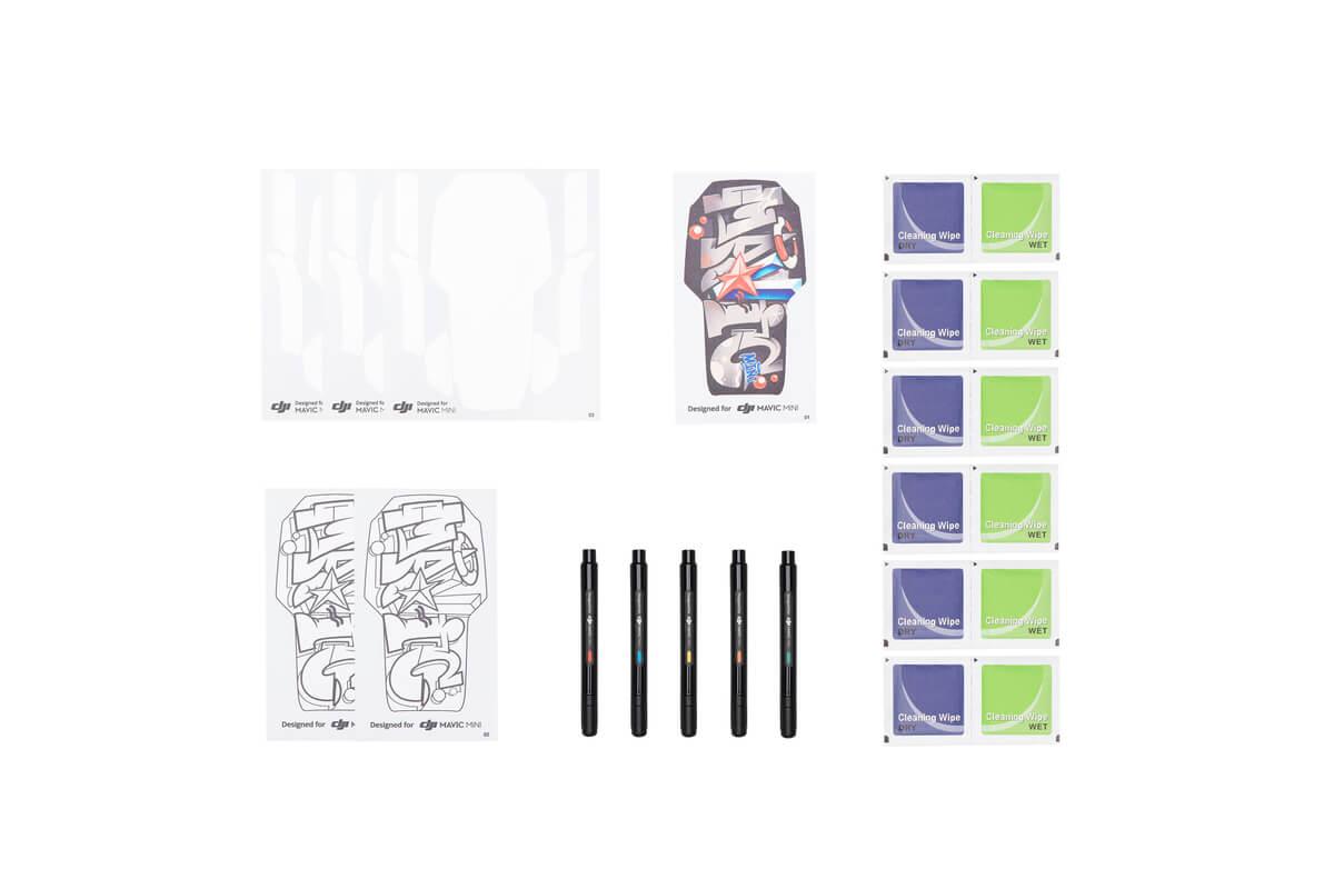 Mavic Mini DIY Sticker + Marker Pen + Wipe Bag Kit default