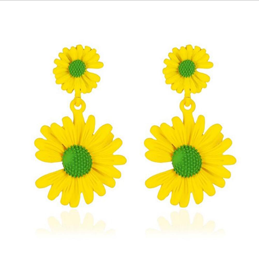 Elegant Daisy Earrings Cute Flower Earrings for Women Gift  03 yellow