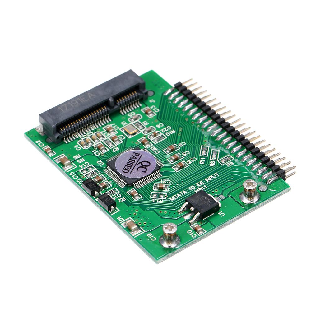 2.5 Inch 44-Pin Standard Male IDE Connector mSATA Mini PCI-E SSD to 2.5