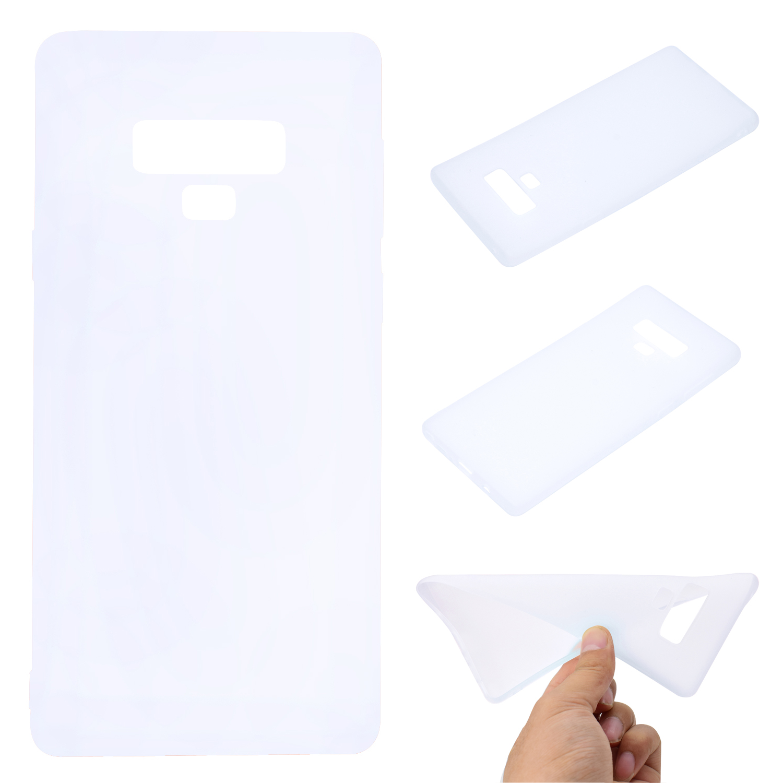 for Samsung NOTE 9 Cute Candy Color Matte TPU Anti-scratch Non-slip Protective Cover Back Case white