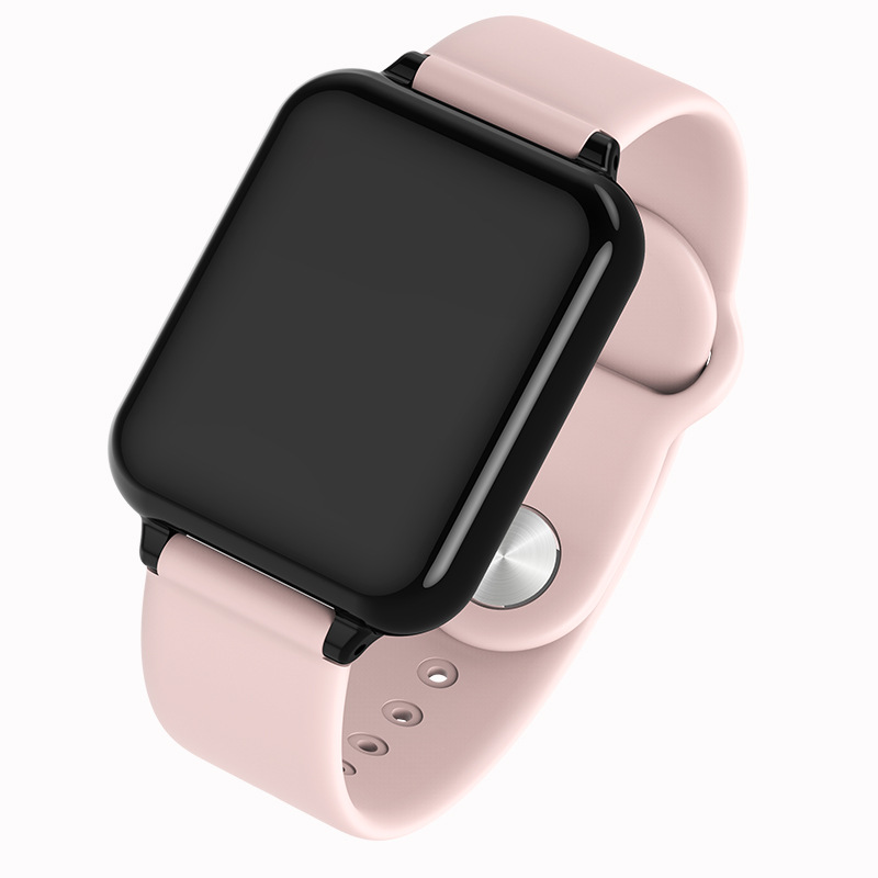 B57 Color Screen Fitness Bracelet Activity Tracker Heart Rate Blood Pressure Monitor Watch Pink