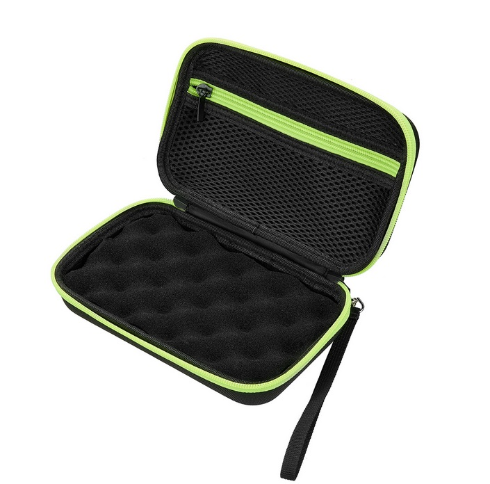 Home Storage Bag Organizer Case for Digital Forehead Thermometer Data Line green
