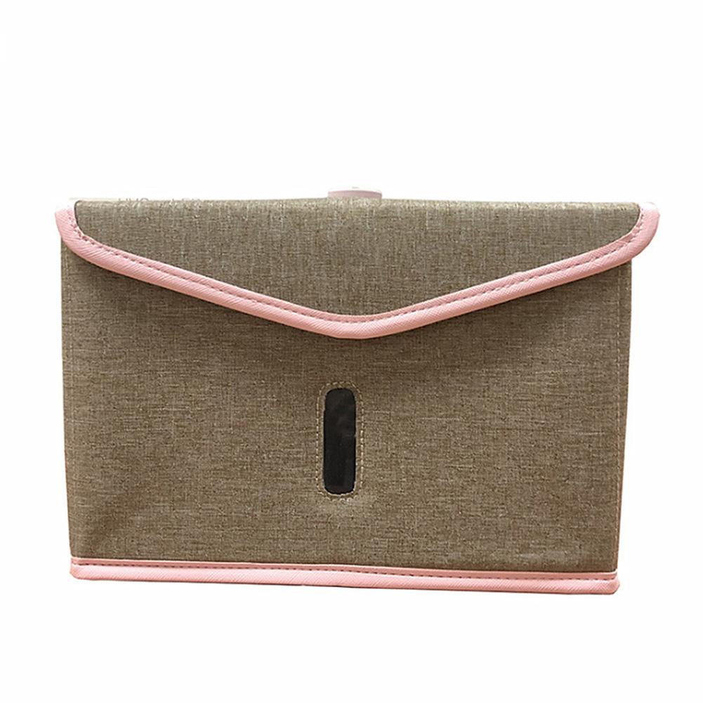 Folding UVC Sanitizer Storage Bag for Bottle Phone Jewelry Face Mask Underwear Khaki