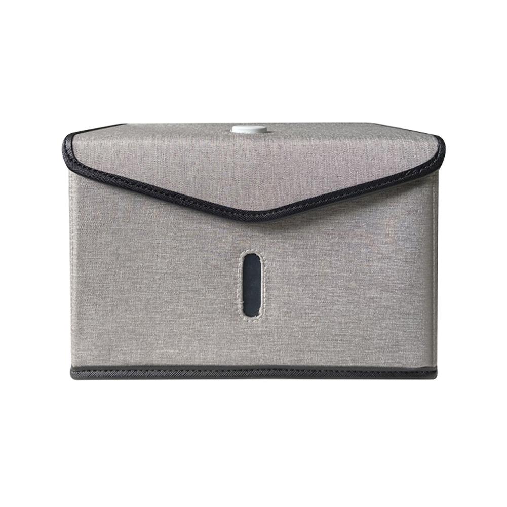 Folding UVC Sanitizer Storage Bag for Bottle Phone Jewelry Face Mask Underwear gray