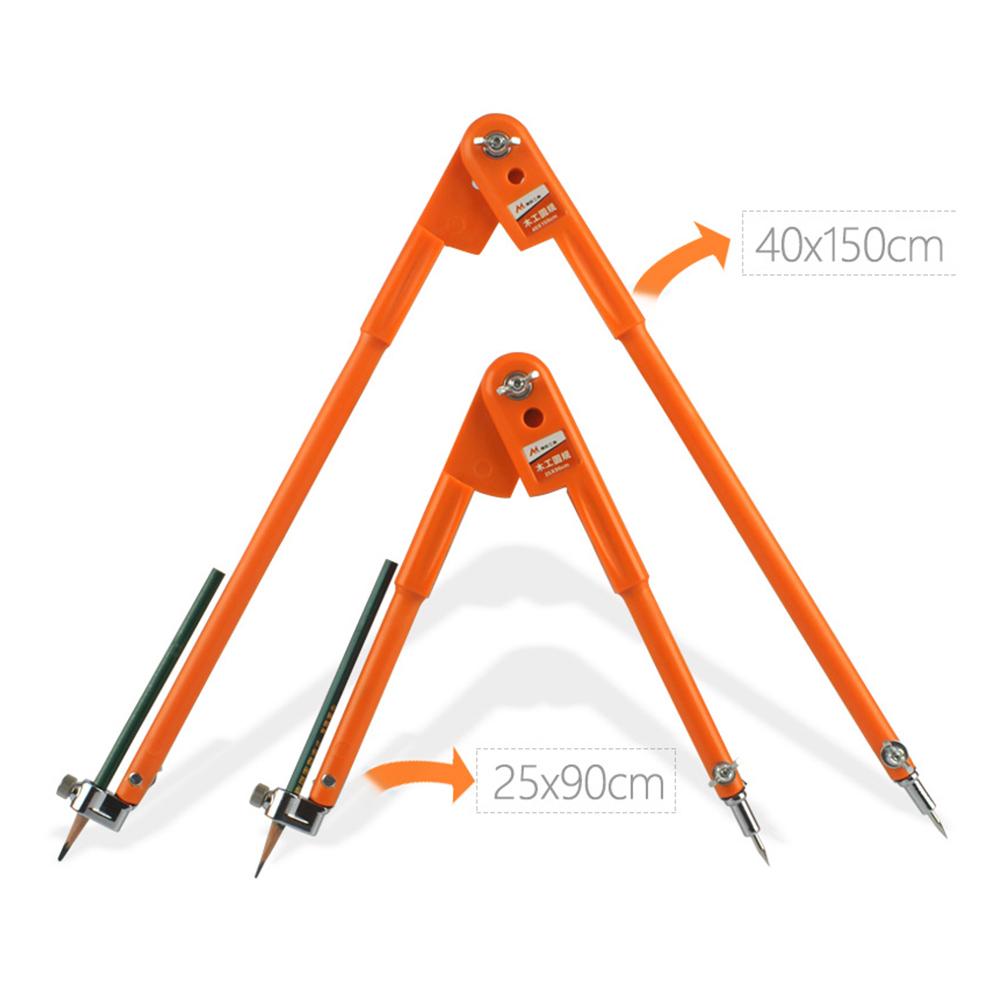 Carpenter Precision Pencil Compasses Large Diameter Adjustable Dividers Marking for Woodworking Large Compasses