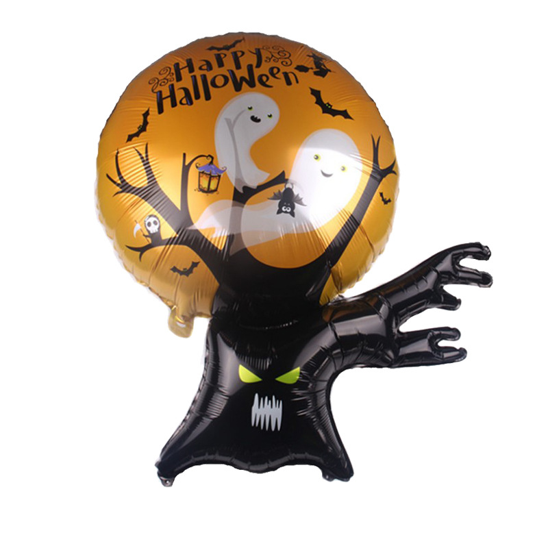 Scary Shape Decorative Ballon Aluminum Foil Ballon for Ghost Festival Halloween Party Halloween ghost tree