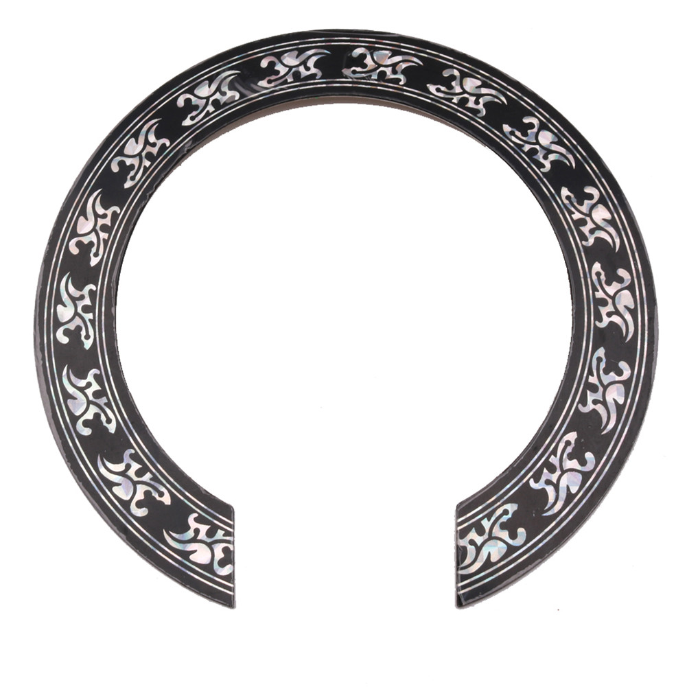 105mm Diameter Flower Pattern Guitar Circle Sound Hole Sticker Guitar Sound Hole Circle For Classical Guitar Decal Accessories Silver